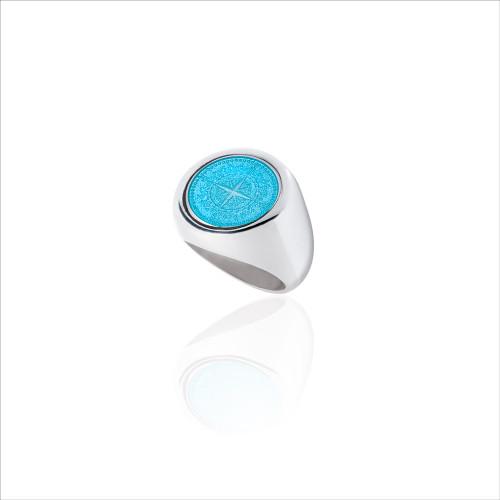Colby Davis Signet Ring - Light Blue