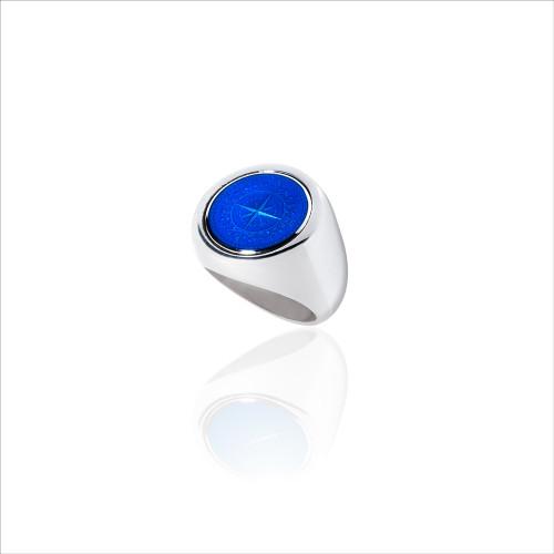 Colby Davis Signet Ring - Royal Blue