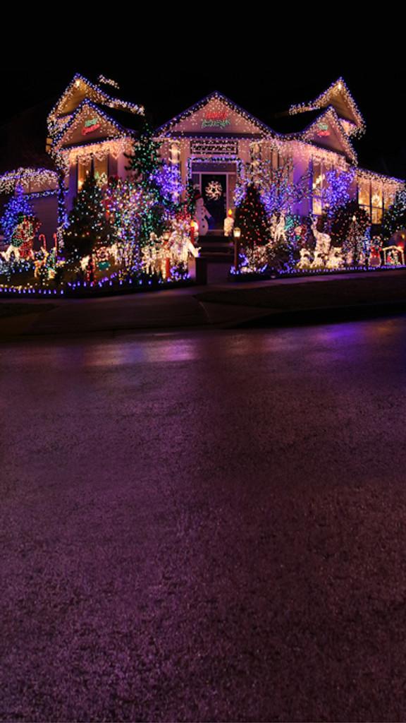 Christmas Lights Backdrop