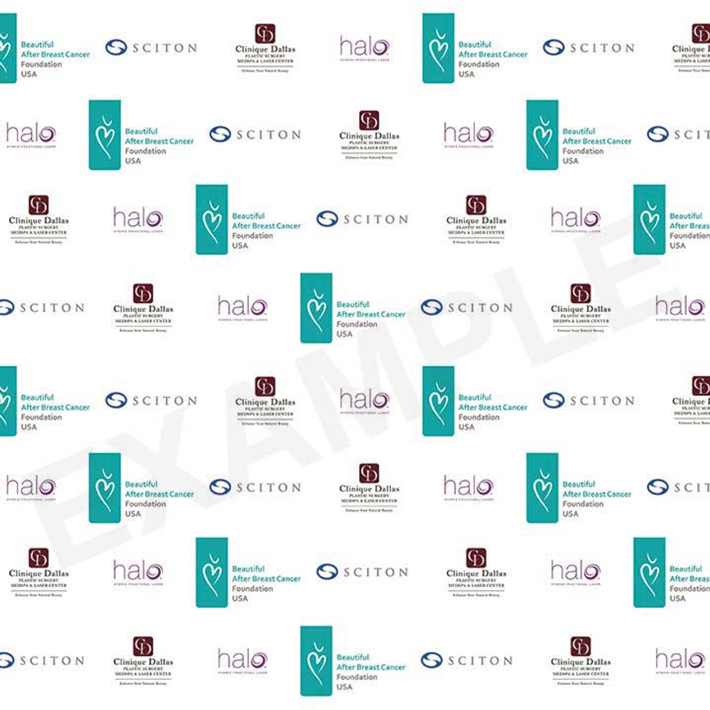 Step & Repeat Backdrop (Your Custom Logo)
