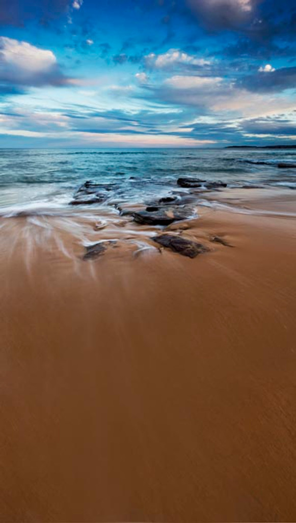 Rocky Seaside Backdrop