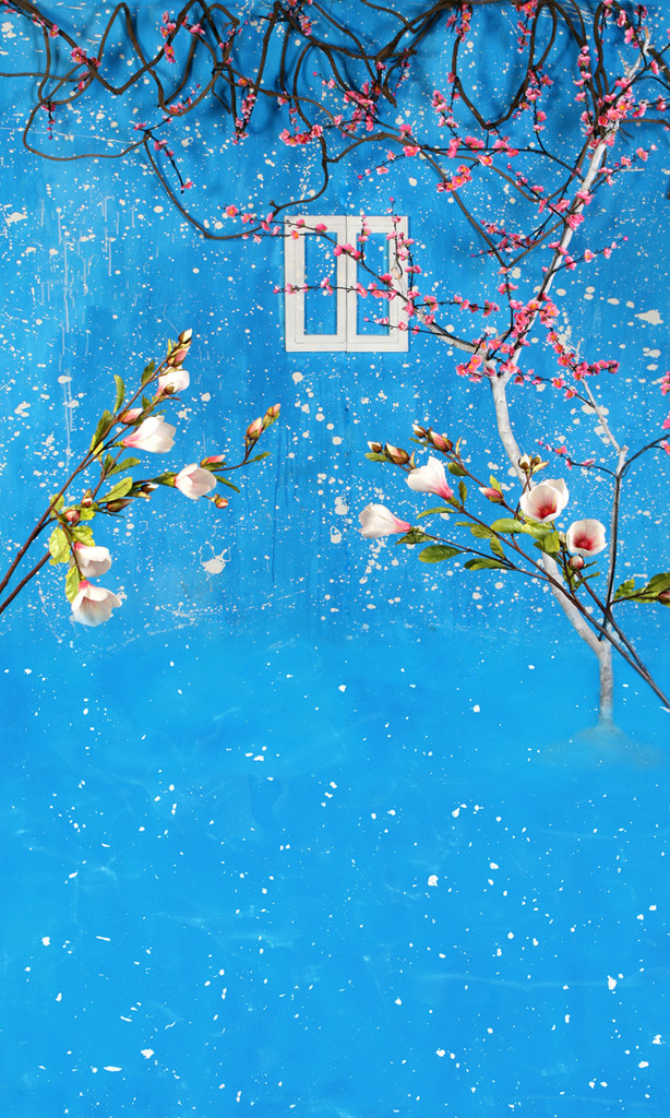 Cherries in Bloom Photography Backdrops