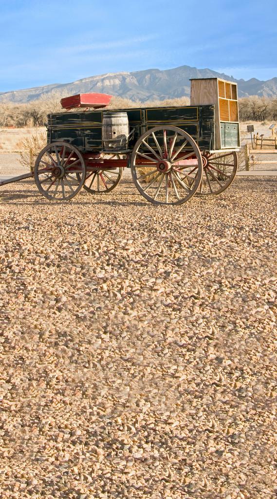 Western Wagon Backdrop