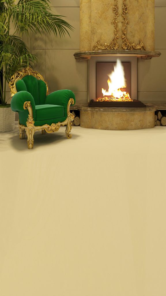 Elegant Fireplace Backdrop