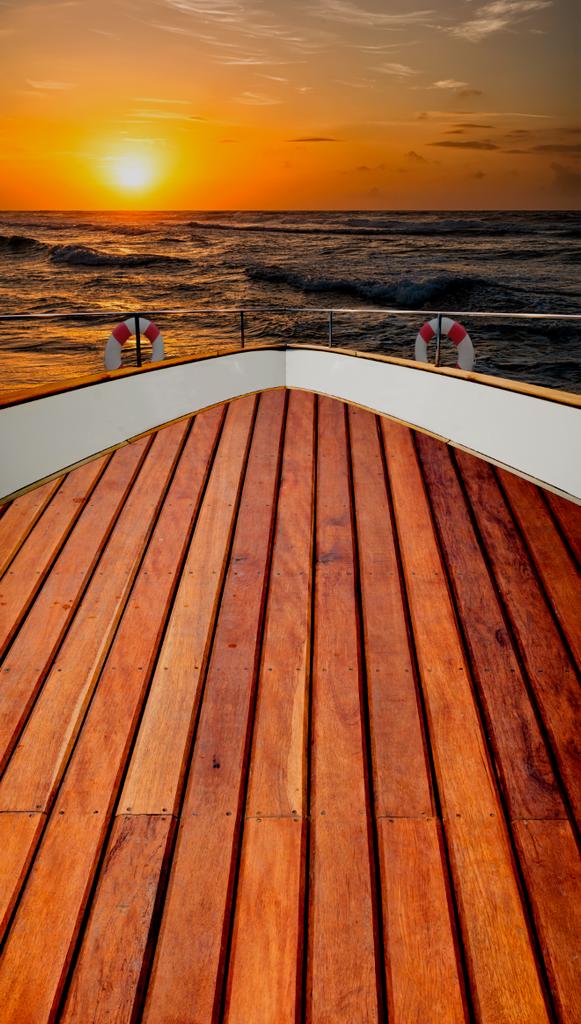 Sunset on Deck Backdrop