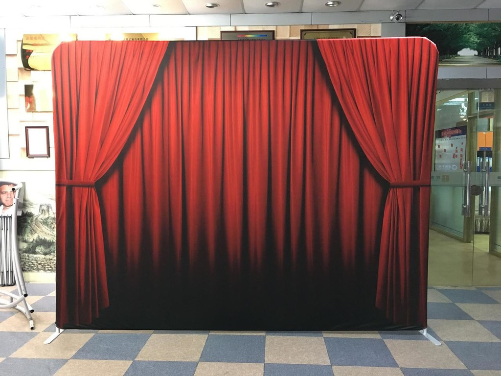 Red Curtain Tension Backdrop