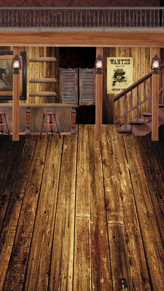 Tall Saloon Interior Backdrop