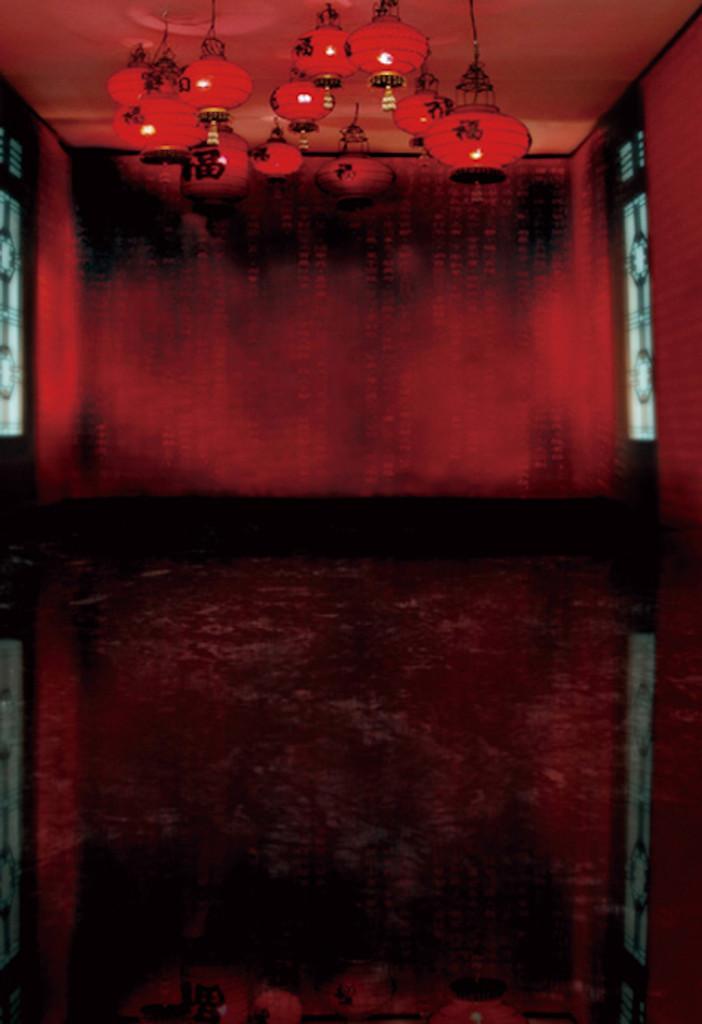 Red Lantern Room Backdrop