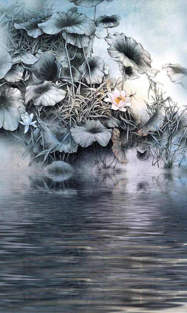 Lotus Pond Backdrop