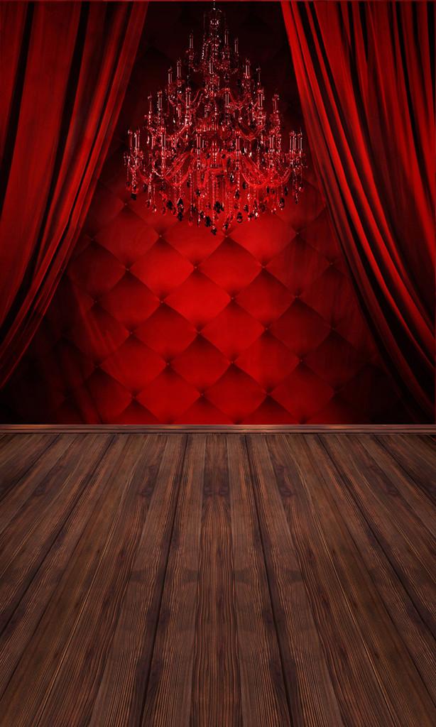 Red Boudoir Backdrop