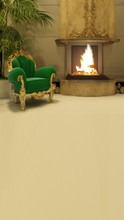 Elegant Fireplace Backdrop