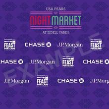 Mixed Logos Tradeshow Backdrop