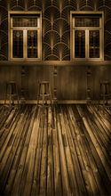 Sepia Art Deco Saloon Backdrop