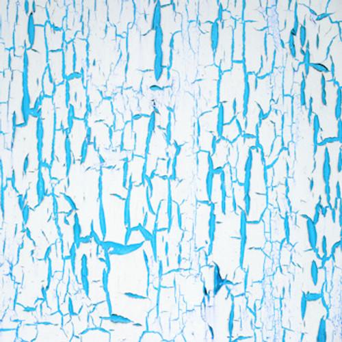 Aqua/White Crackle Floor