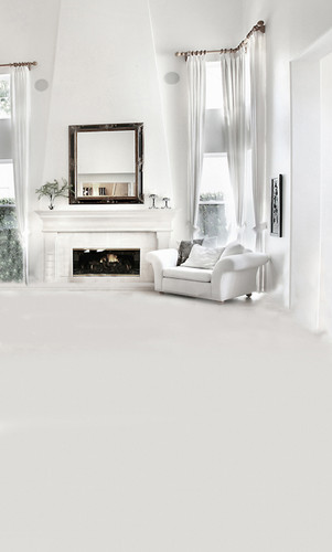 White Living Room Backdrop