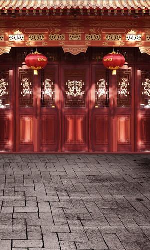 Festive Temple Backdrop
