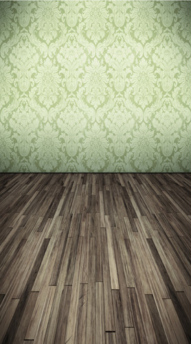 Pistachio Damask Room Backdrop