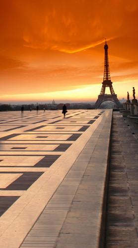 Paris At Sunset Backdrop