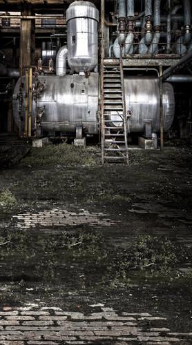 Grunge Machine Room Backdrop