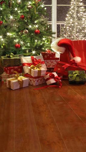 Santa Was Here Backdrop