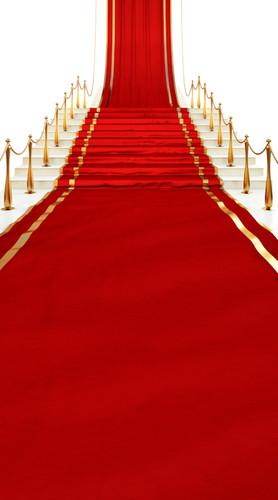 Red Carpet Stairway Backdrop