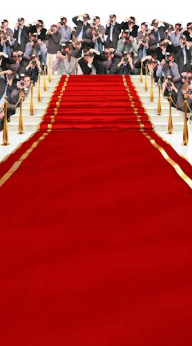 Red Carpet Stairway (w Paparazzi) Backdrop