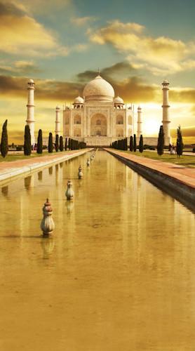 Taj Mahal Sunset Backdrop