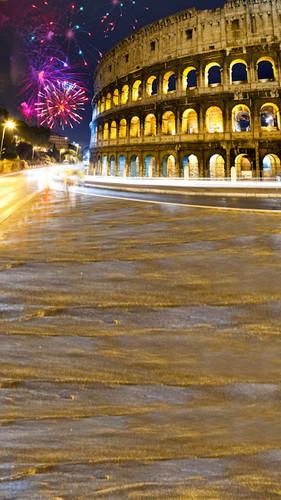 Rome At Night Backdrop