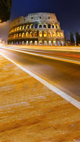 Night Lit Colosseum