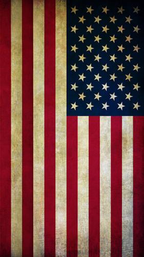 Rugged American Flag Backdrop