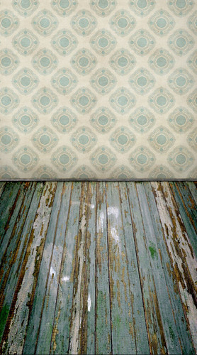 Rustic Blue Room Backdrop