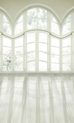 White Garden Doors Backdrop