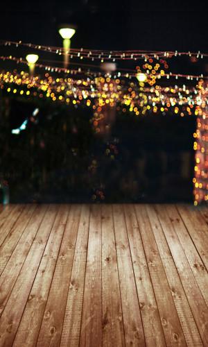 Bokeh Lit Patio Backdrop