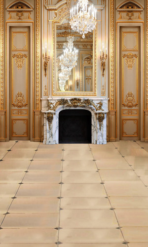 Marble Fire Place Backdrop