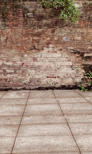 Bedraggled Brick Wall Backdrop