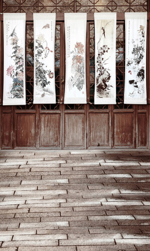 Chinese Watercolors Backdrop