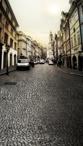 Streets of Prague Backdrop