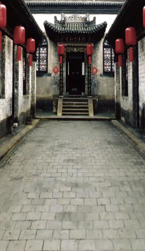 Lantern Courtyard Photography Backdrops
