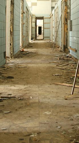 Derelict Hallway Backdrop