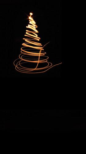 Single Swirl Tree-Gold Backdrop