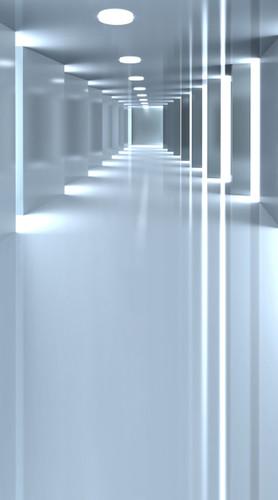 Sleek Hallway Backdrop