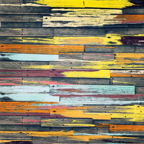 Faded Pastel Planks Floor
