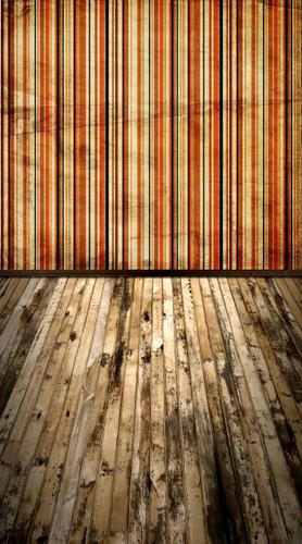 Grunge Carpetbag Stripe Backdrop-(Rust)