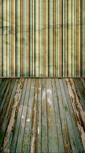 Grunge Carpetbag Stripe Backdrop-(Mint)