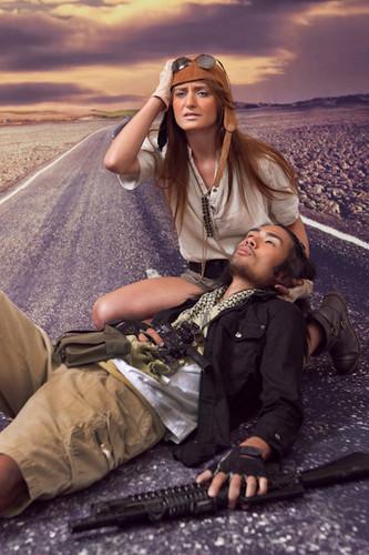Desert Road Backdrop