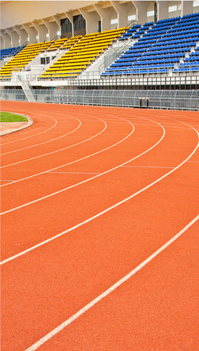 Curved Stadium Track Backdrop