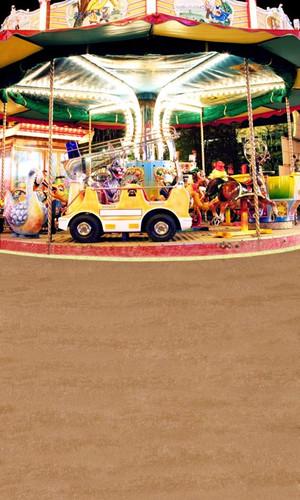Happy Carousel Backdrop