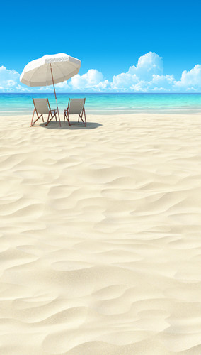 Beachside Lounging Backdrop