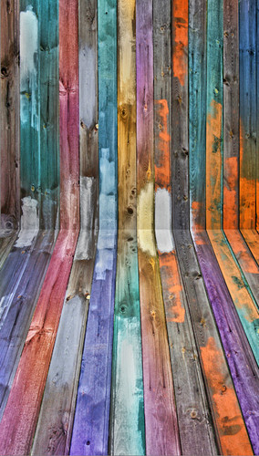 Semi Painted Planks Backdrop