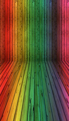 Rainbow Planks Backdrop